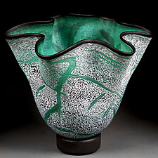 Emerald Evening by Eric Bladholm (Art Glass Bowl)