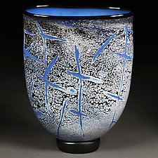 Stormy Sapphire by Eric Bladholm (Art Glass Vase)