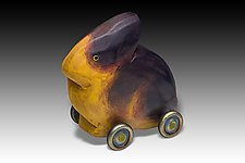 Fat Bunny by Dona Dalton (Wood Sculpture)
