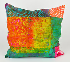 Radar Love #2 Pillow by Ayn Hanna (Cotton & Linen Pillow)