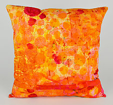 Hot Mod Dots Pillow by Ayn Hanna (Cotton & Linen Pillow)