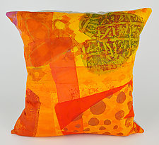 Hearts Afire Pillow by Ayn Hanna (Cotton & Linen Pillow)