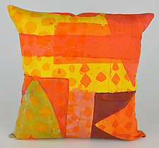 Hearts Ablaze Pillow by Ayn Hanna (Cotton & Linen Pillow)
