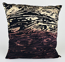 Purple Swirls Pillow by Ayn Hanna (Cotton & Linen Pillow)