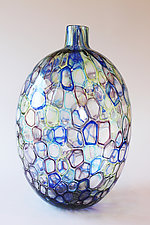 Multi Colored Occhi Murrine Vase by Nanda Soderberg (Art Glass Vase)