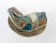Underwater Vessel 2 by Janine Sopp (Ceramic Wall Sculpture)