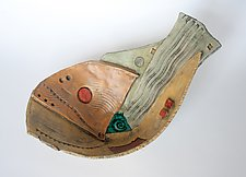 Underwater Vessel 3 by Janine Sopp (Ceramic Wall Sculpture)