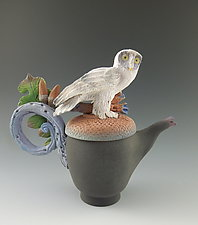 Snowy Owl Tea by Nancy Y. Adams (Ceramic Teapot)