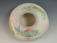 Two Koi Bowl by Nancy Y. Adams (Ceramic Bowl)