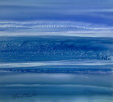 Lovely In Blue by Maureen Kerstein (Watercolor Painting)