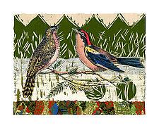 Sunrise Birds XV by Ouida  Touchon (Mixed-Media Wall Art)