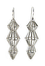 Cage Drop Earrings by Maria  Eife (Silver Earrings)