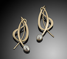 14K Dancing Pearl Earring by Ben Dyer (Gold & Pearl Earrings)