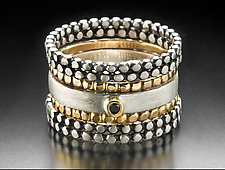 Nod Stacking Rings by Linda Bernasconi (Gold, Silver & Stone Rings)