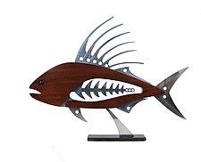 Roosterfish by Mark Gottschalk (Wood & Metal Sculpture)