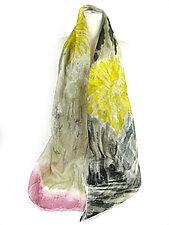 Floral Organza Scarf in Dandelion by Yuh Okano (Silk Scarf)