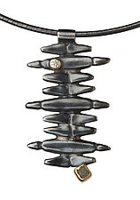 Vertical Ladder by Alison Antelman (Silver & Stone Necklace)