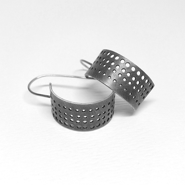 Small Perforated Hoop Earrings