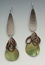 Sophisticated Earrings by Lonna Keller (Silver & Neoprene Earrings)