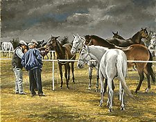 Gypsy Horse Sale by Werner Rentsch (Oil Painting)