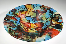 Abstract Glass Bowl by Varda Avnisan (Art Glass Bowl)