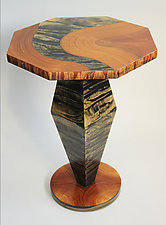 Octagon Table by Ingela Noren and Daniel  Grant (Painted Wood Side Table)