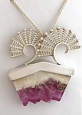 Fandango Flourite Satinspar by Marie Scarpa (Silver & Stone Necklace)