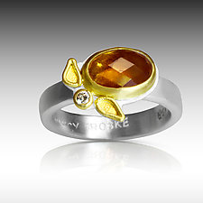 Diamonds and Rust by Nancy Troske (Gold & Stone Ring)