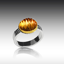 Beehive Ring by Nancy Troske (Gold & Stone Ring)