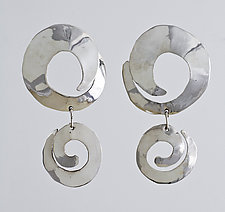 Double Swirl by John Siever (Silver Earrings)
