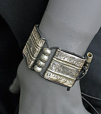 Oxidized Bracelet with Beads by John Siever (Silver Bracelet)