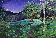 Moonlight on the River Road by Wynn Yarrow (Giclee Print)