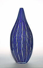 Blue Mokume by James Friedberg (Art Glass Vessel)