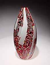 Red Mokume by James Friedberg (Art Glass Vessel)