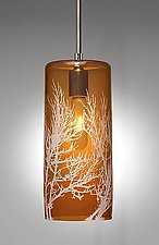 Swaying Branch Pendant by Moshe Bursuker (Art Glass Pendant Lamp)
