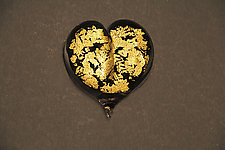 Gold Leaf Heart by Robert Burch (Art Glass Paperweight)