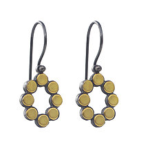 22k Oval Dot Earrings by Elisa Bongfeldt (Gold & Silver Earrings)
