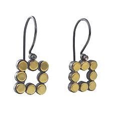 22k Square Dot Earrings by Elisa Bongfeldt (Gold & Silver Earrings)