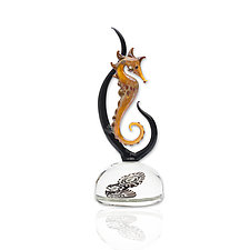 Seahorse 1 by Jennifer Caldwell (Art Glass Sculpture)
