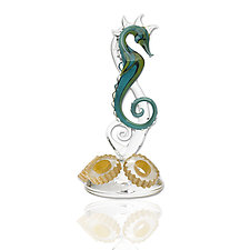 Seahorse 2 by Jennifer Umphress Studios (Art Glass Sculpture)