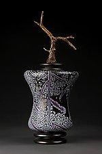 Grana Mali Lljubicasta Boja: Violet Concave Cylinder by Eric Bladholm (Art Glass Vessel)