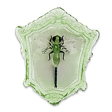 Dragonfly Green by Jennifer Caldwell (Art Glass Wall Sculpture)