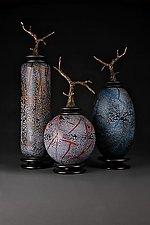 Fissure Series, Grana Mali Set by Eric Bladholm (Art Glass Vessels)