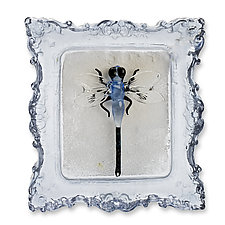 Dragonfly Blue by Jennifer Umphress Studios (Art Glass Wall Sculpture)