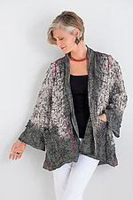 Ombre Mud-Dye Shibori A-Line Jacket by Mieko Mintz (Cotton Jacket)