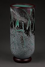 Fissure Vessel, Jade by Eric Bladholm (Art Glass Vessel)