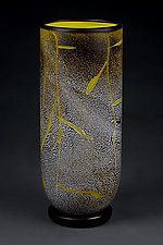 Fissure Vase, Lemon by Eric Bladholm (Art Glass Vessel)