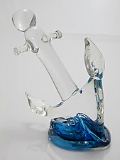 Glass Anchor Sculpture by Michael Richardson, Justin Tarducci, and Tim Underwood (Art Glass Paperweight)