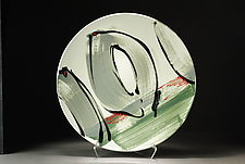 Platter in Green by Michael  Kifer (Ceramic Platter)