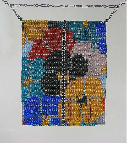 California Dream Beadwork and Spinel Necklace